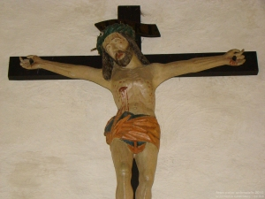 Who would Jesus torture?    (http://commons.wikimedia.org/wiki/Category:Crucifixes#mediaviewer/File:Neudenau-gangolf-kruzifix.jpg)